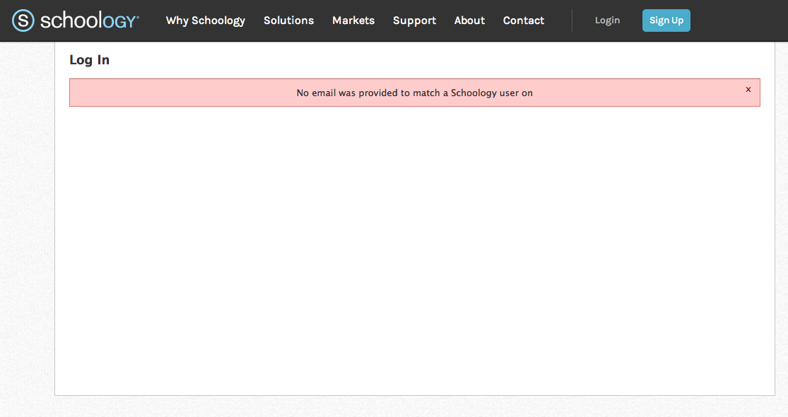 Schoology & Google Apps error